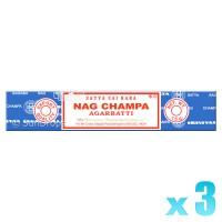 Satya Nag Champa Incense Sticks - 15g x 3