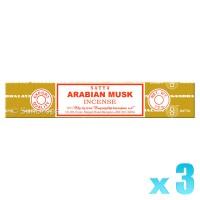 Satya Natural Series - Arabian Musk - 15g x 3
