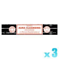 Satya Natural Series - Aura Cleansing - 15g x 3