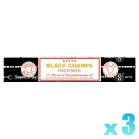Satya Natural Series - Black Champa - 15g x 3