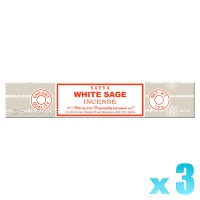 Satya Natural Series - White Sage - 15g x 3